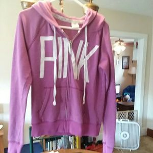 PINK VS zip up hoodie great used condition!